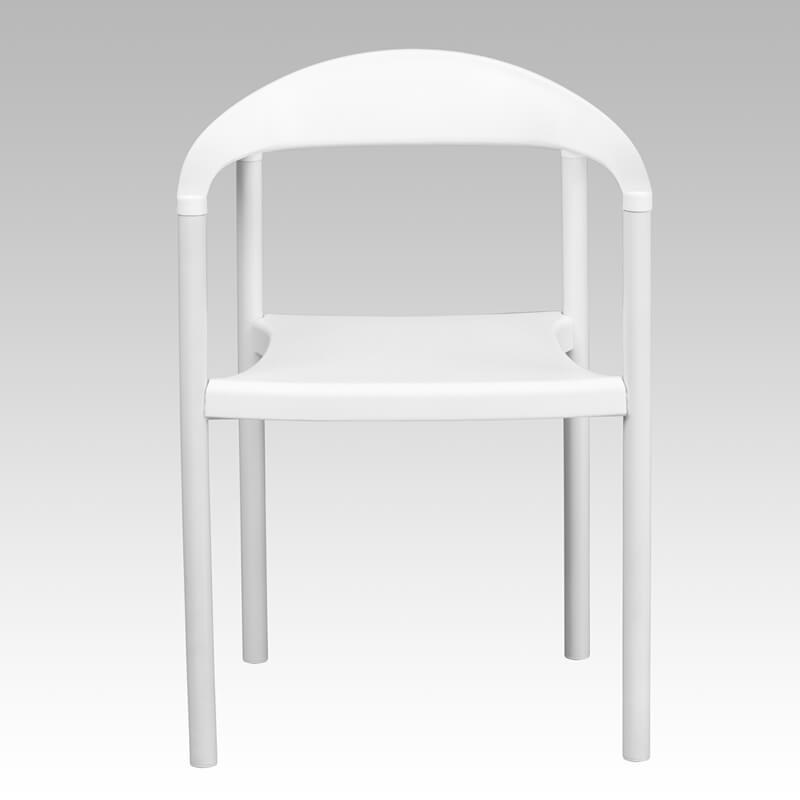 ecru plastic armchair white