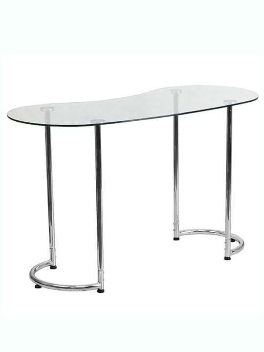 glass shape desk