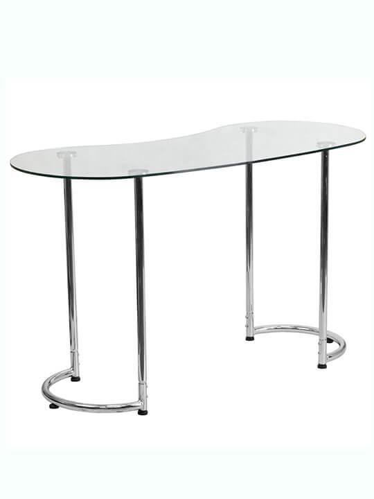 glass shape desk