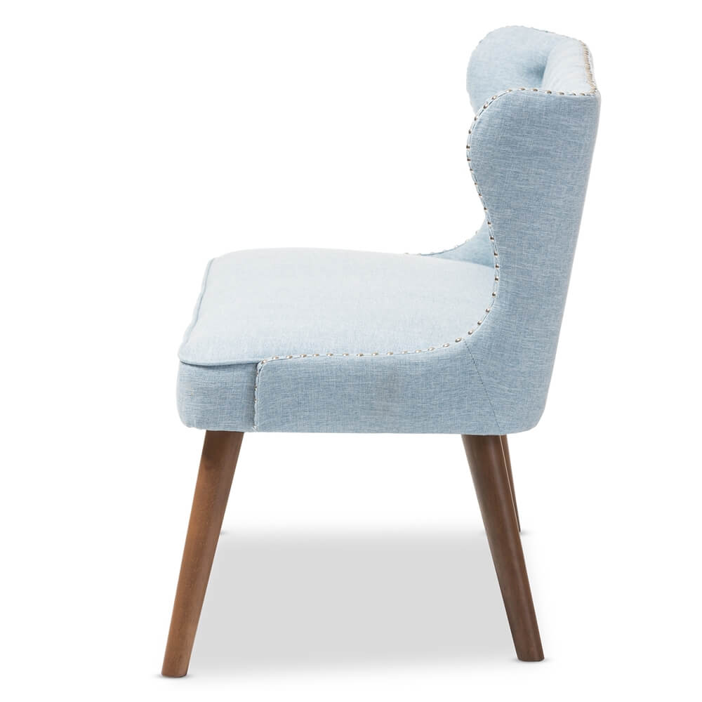 light blue love seat