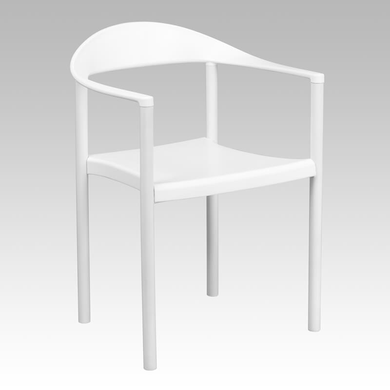 plastic armchair white
