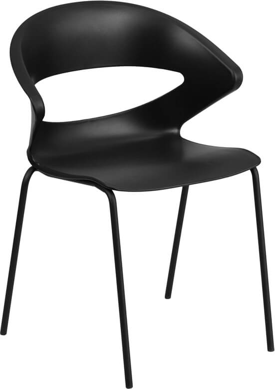 plastic chair with curved chair