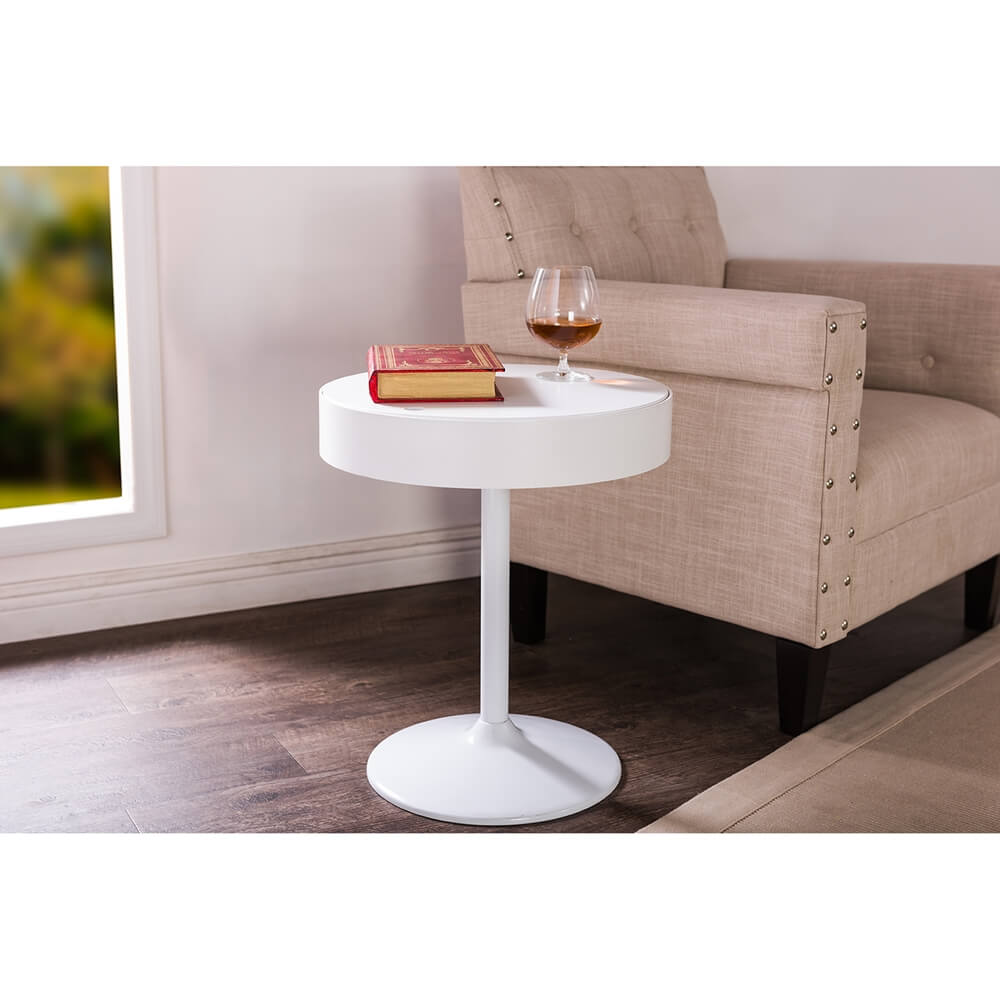 Tulip Swivel Side Table Modern Furniture Brickell