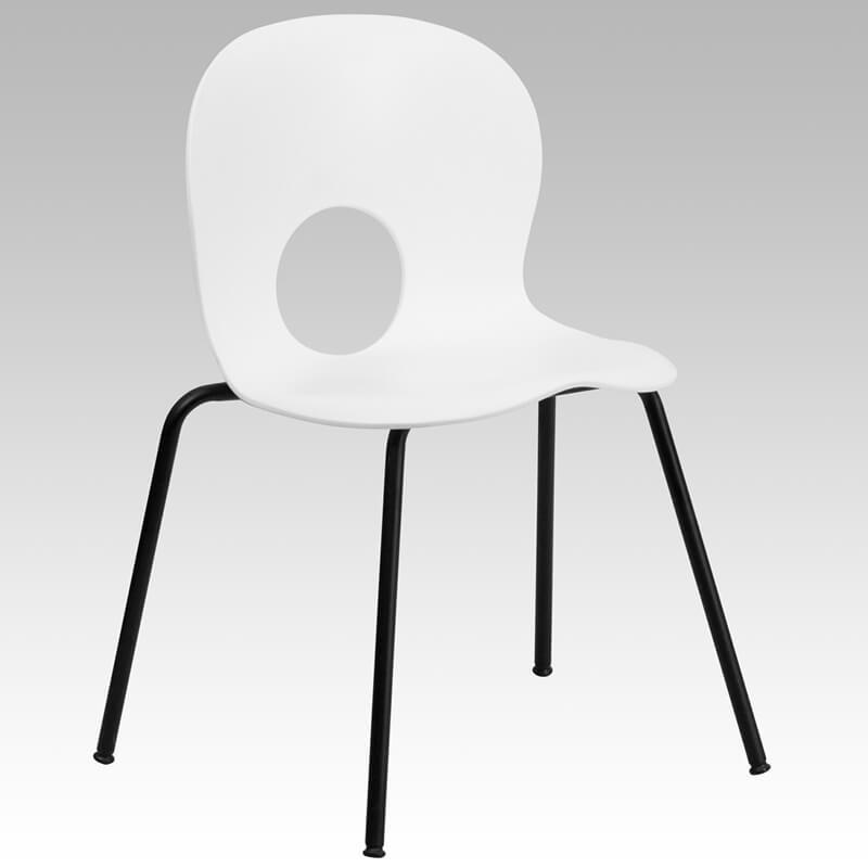 white circle chair