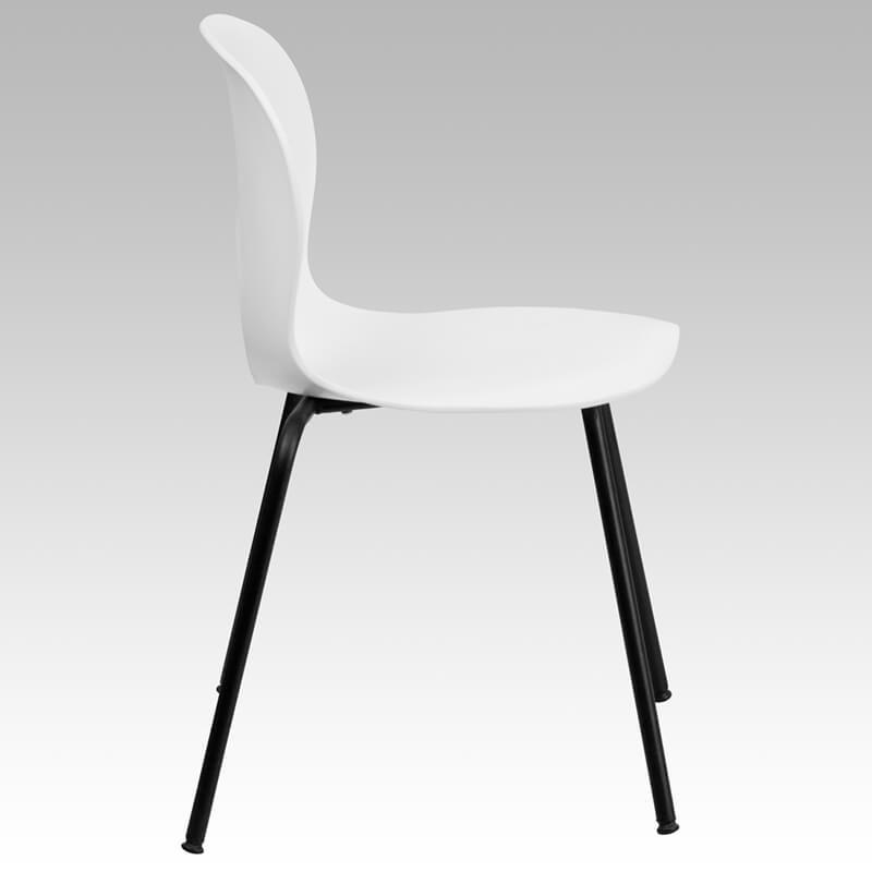 white circle cut out chair 3