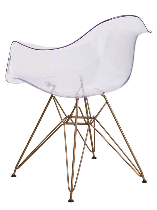 Ceremony Clear Gold Wire Armchair 2