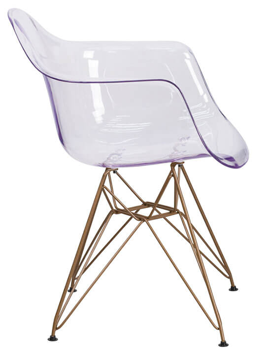 Ceremony Clear Gold Wire Armchair 4