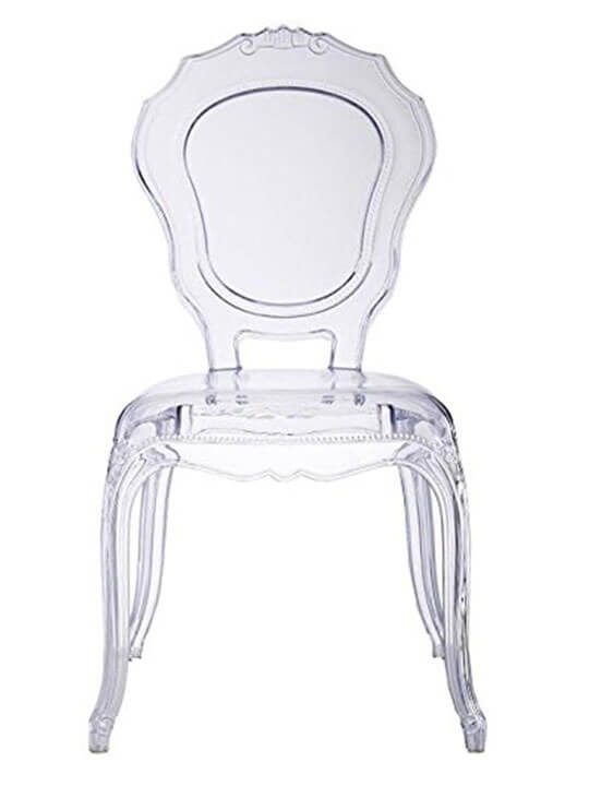 clear accent chair