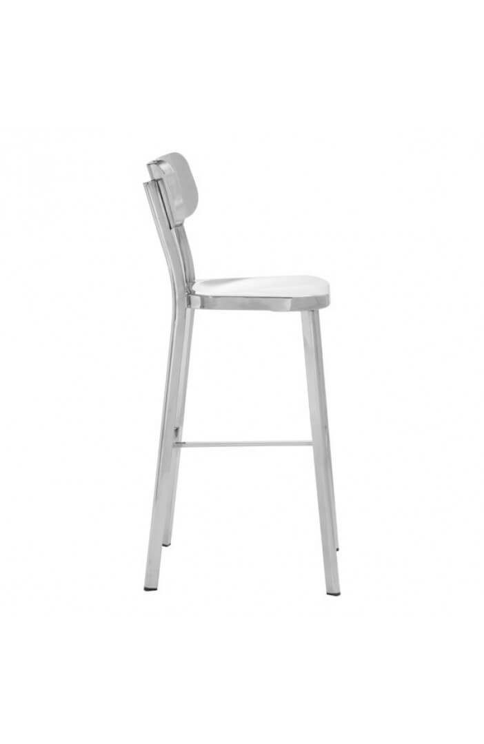 Metallic Chrome Barstool 1