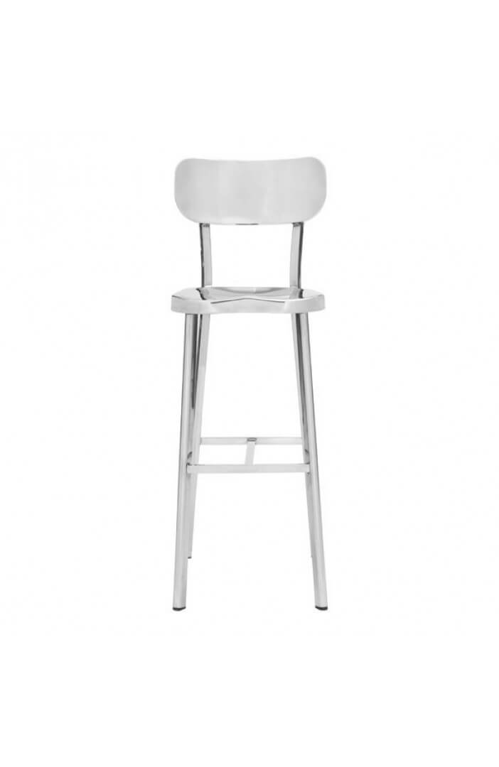 Metallic Chrome Barstool 3