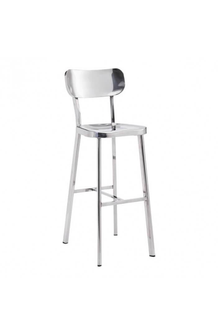Metallic Chrome Barstool 4