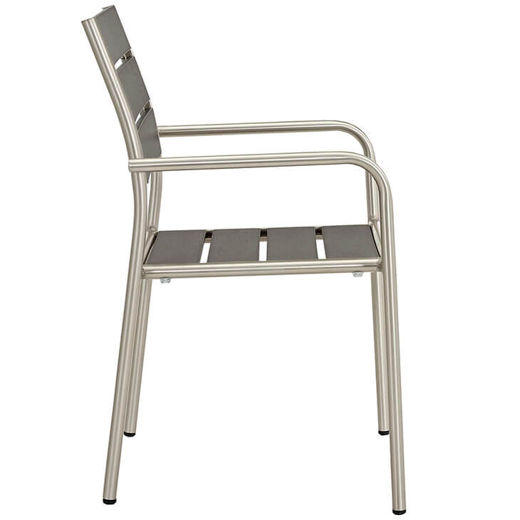 Modern Outdoor Aluminum Wood Armchair 2