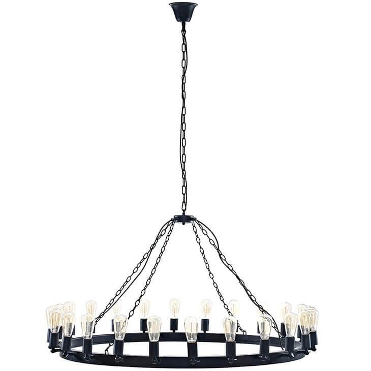 edison bulb chandelier large