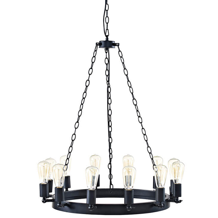 edison bulb chandelier small