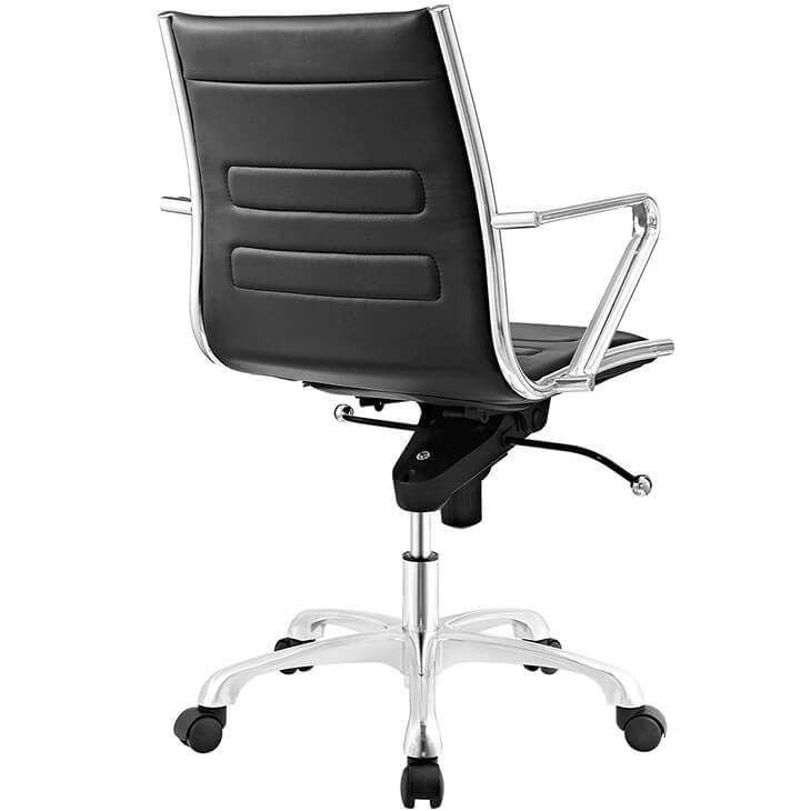 form black leather office chair 3