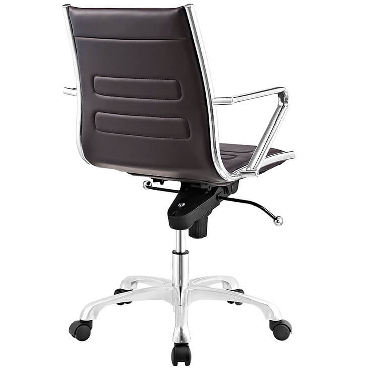 form brown leather office chair 2