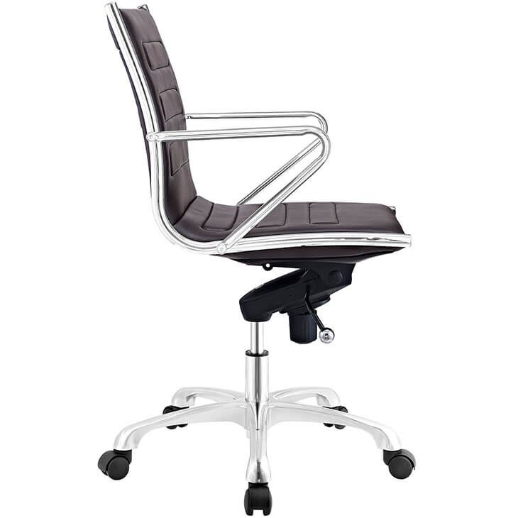 form brown leather office chair 3