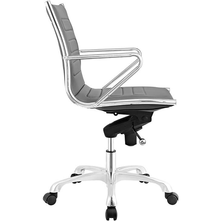 form grey leather office chair 2