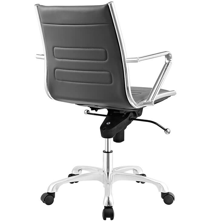 form grey leather office chair 3