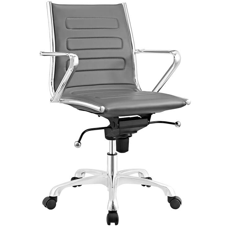 form grey leather office chair