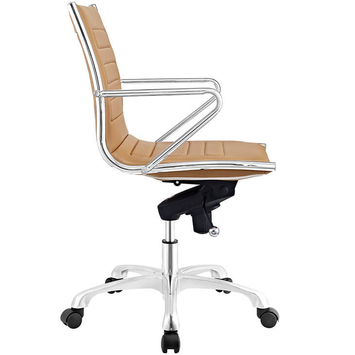 form tan leather office chair 2