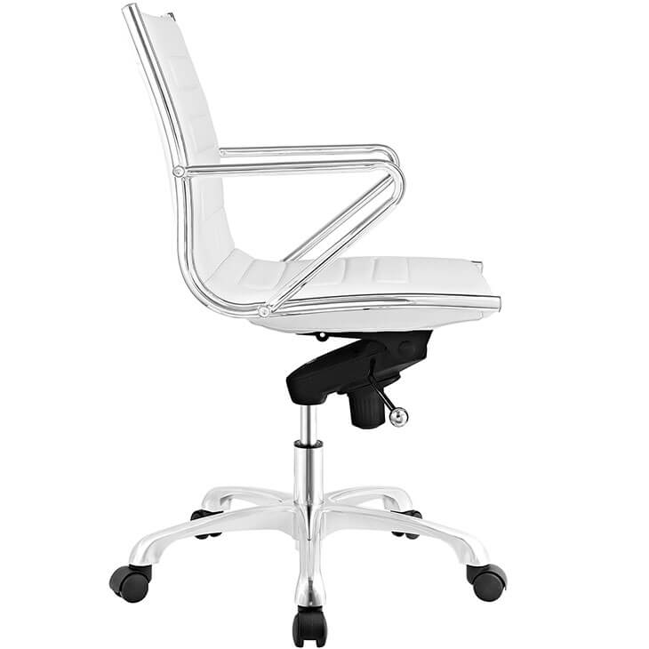 form white leather office chair 2