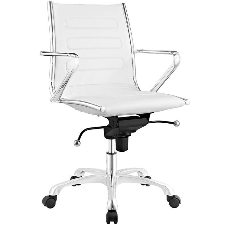 form white leather office chair