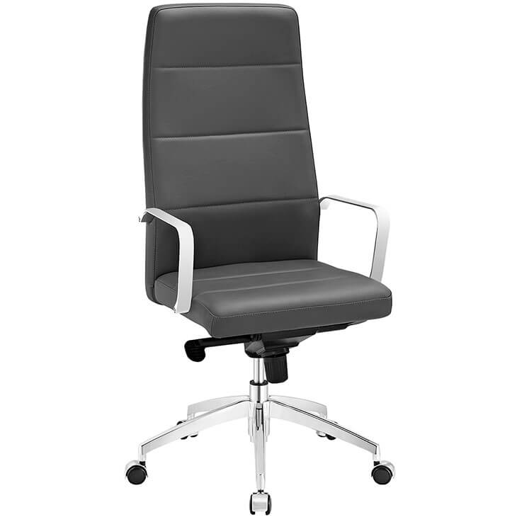 grey highback office chair