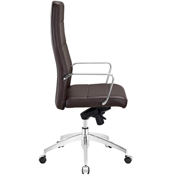 highback brown office chair