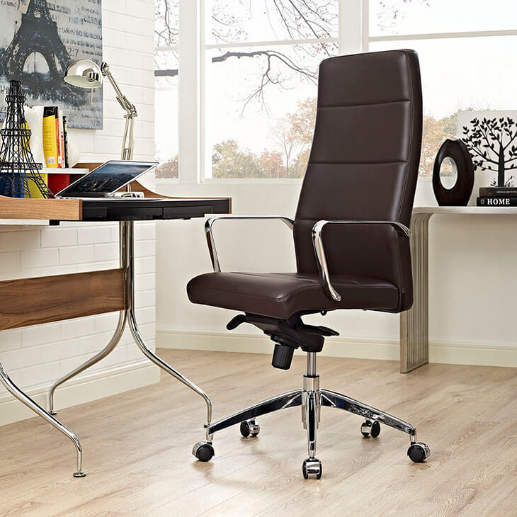 instant equity office chair brown