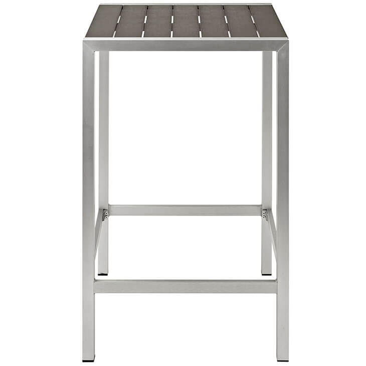 modern outdoor aluminum wood bar table 2
