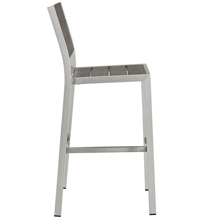 modern outdoor aluminum wood barstool 2