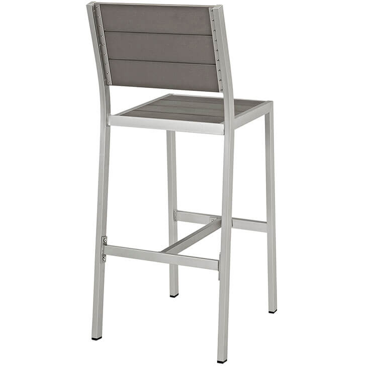modern outdoor aluminum wood barstool 3