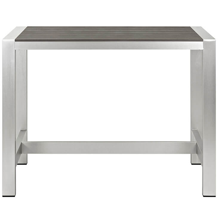 modern outdoor aluminum wood large bar table 2