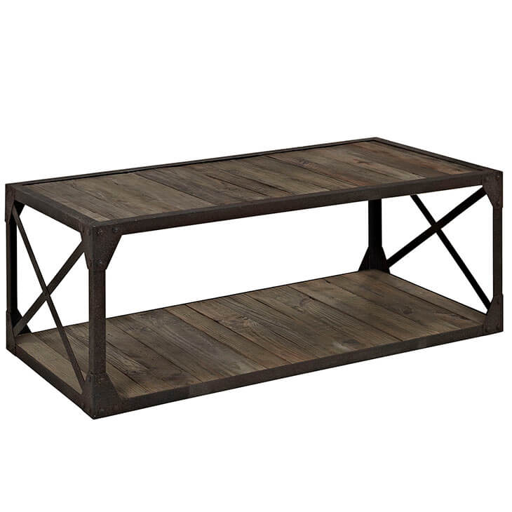 reclaimed wood coffee table 2
