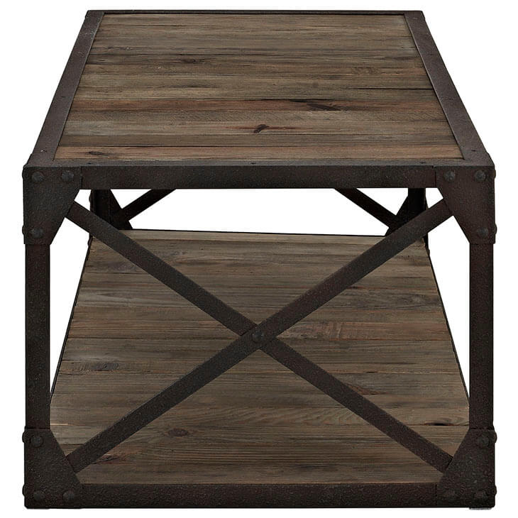 reclaimed wood coffee table 4