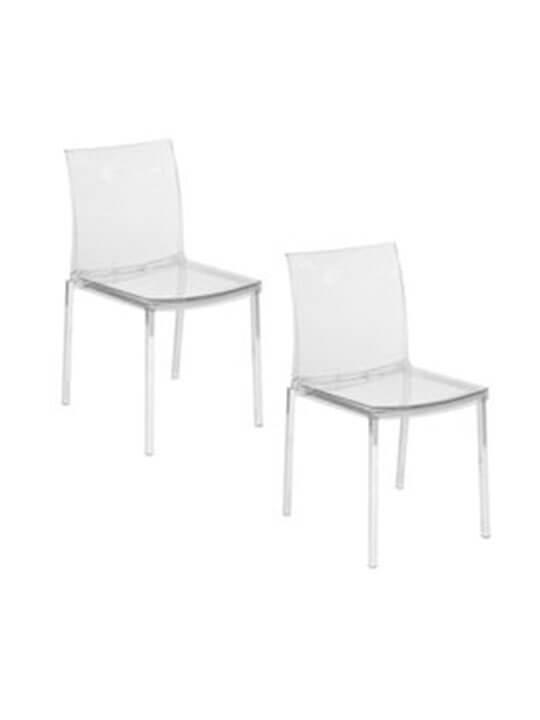 2 clear chair set