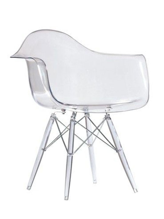 clear base chair
