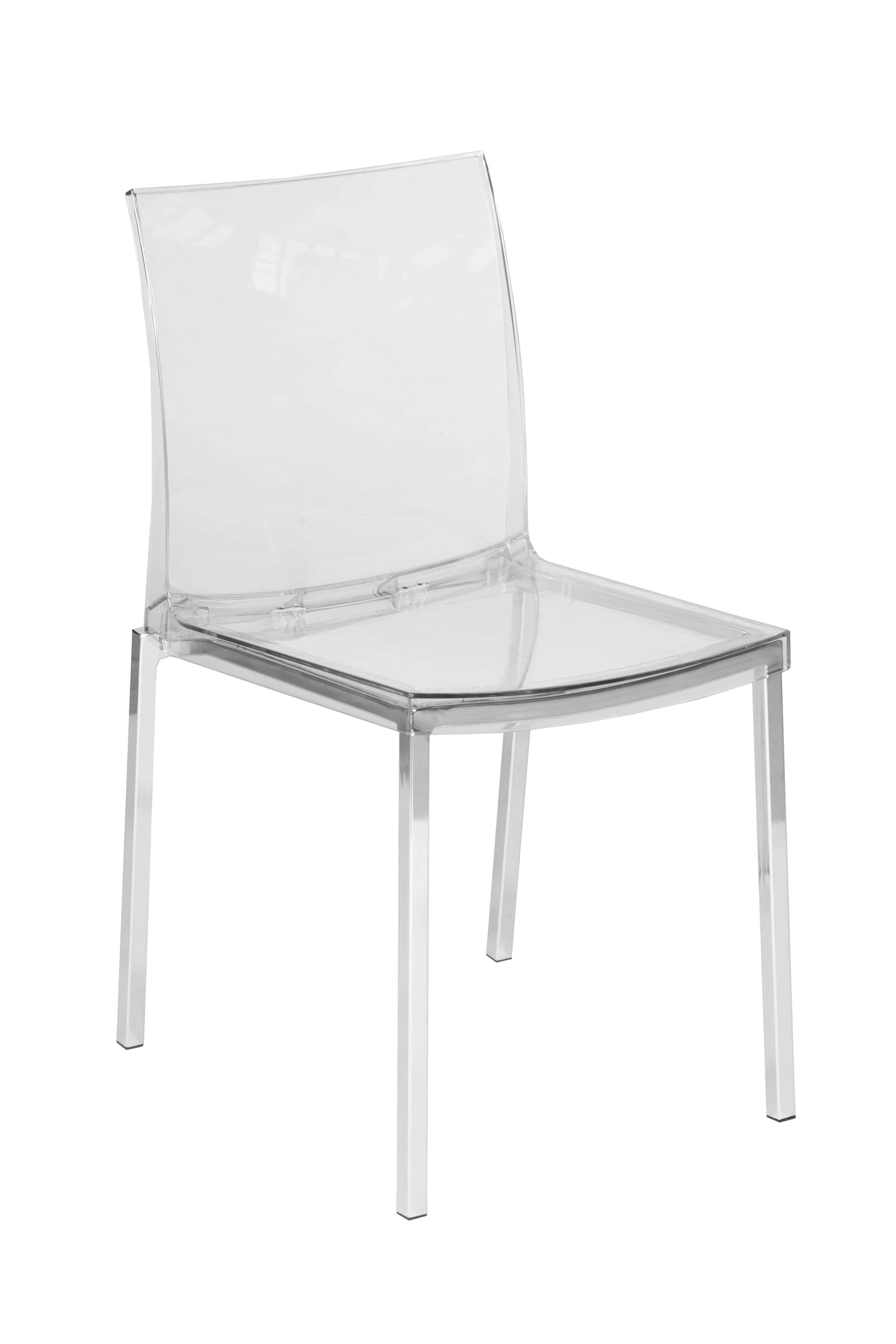 Clear Chrome Chair 2
