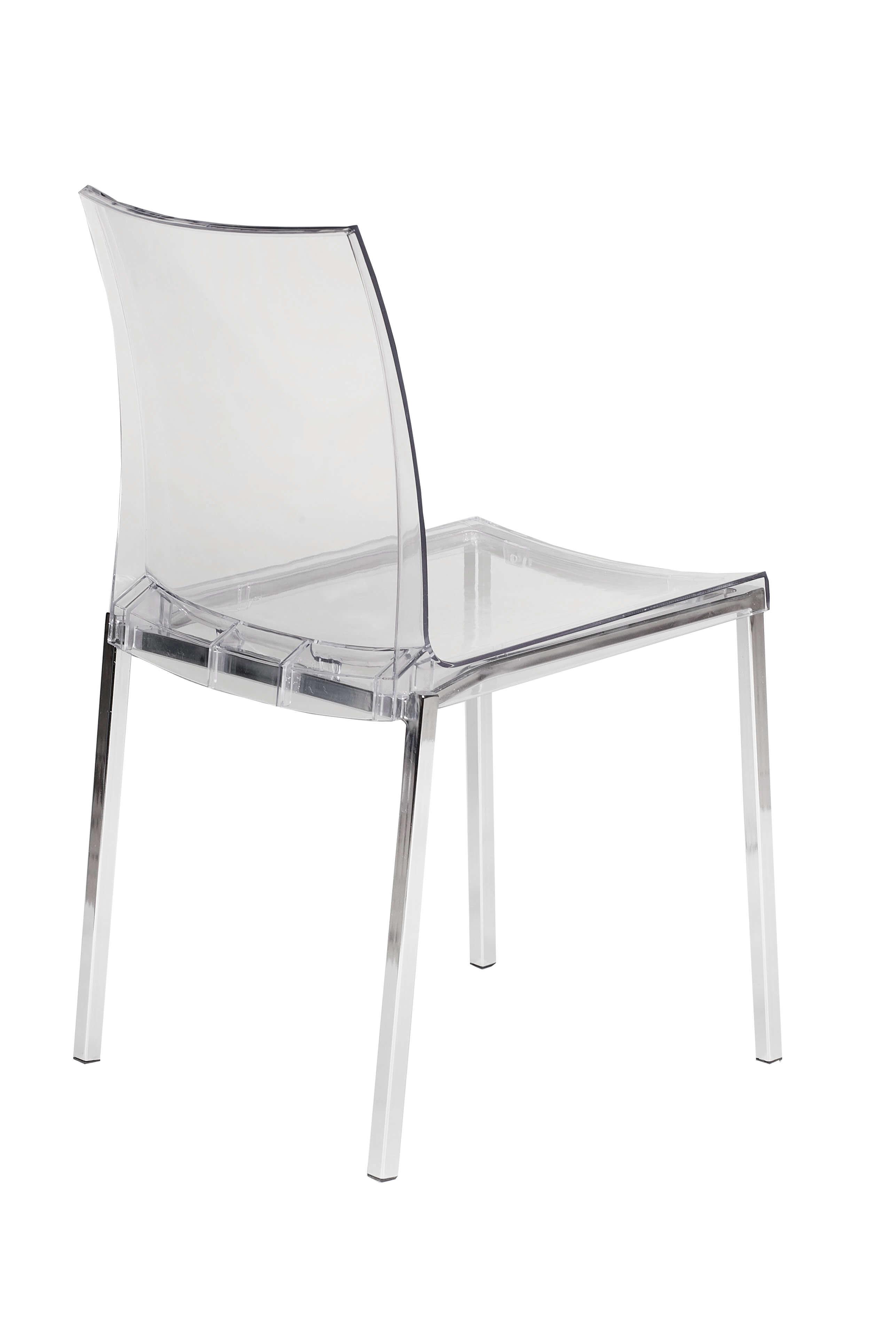 Clear Chrome Chair 3