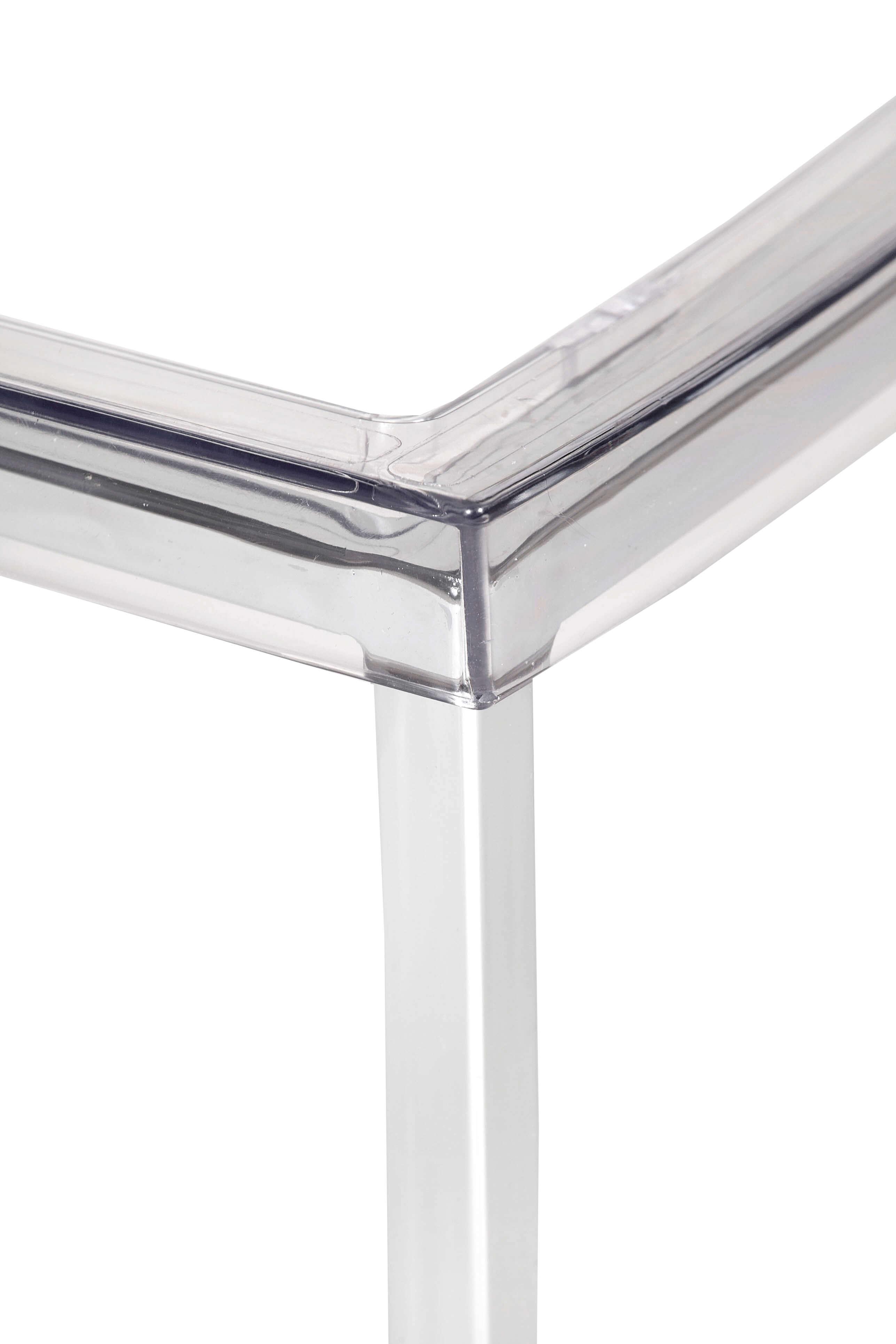 Clear Chrome Chair 4