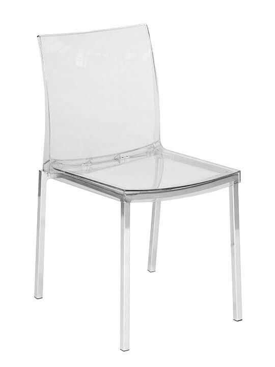 Clear Chrome Chair