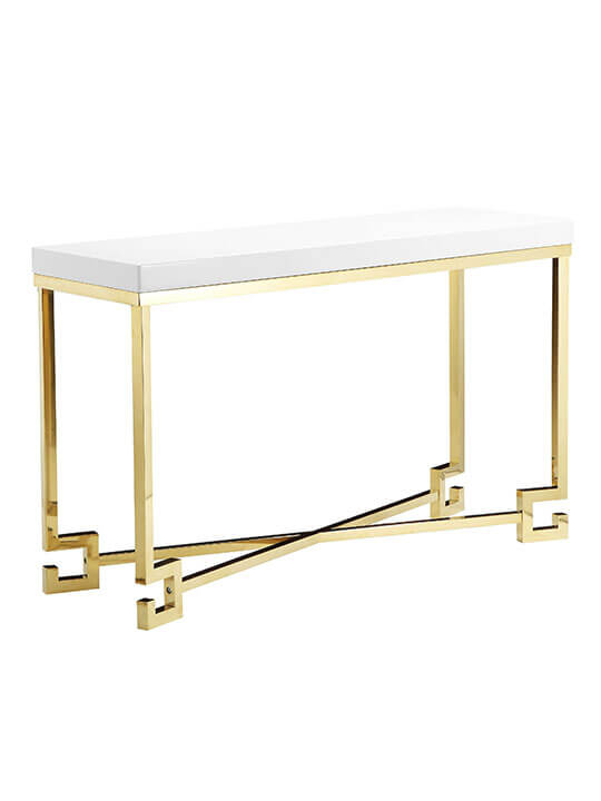 hollywood regency console table