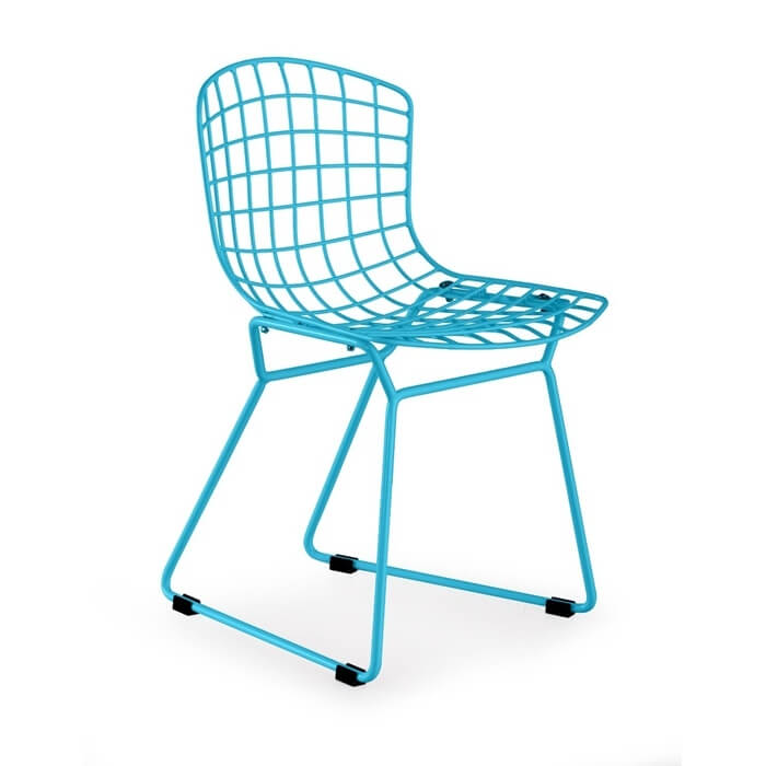 Kids blue wire chair