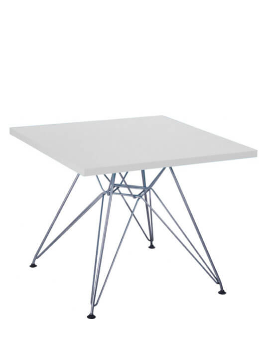 Kids white wire table