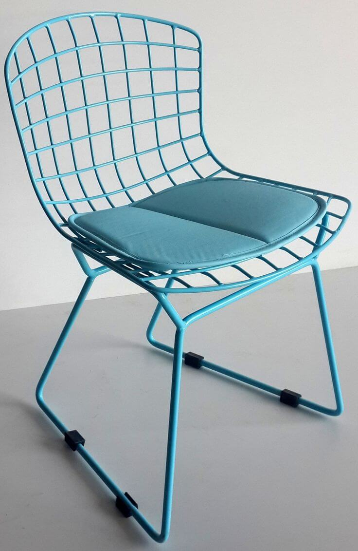 Kids wire chair blue