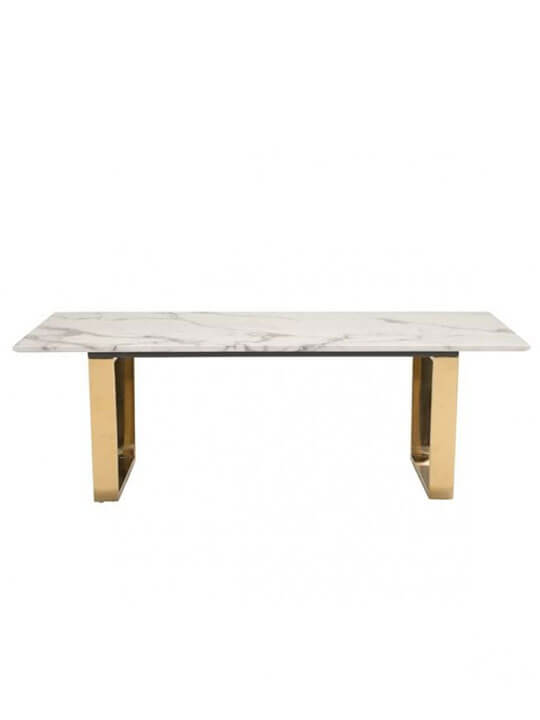 White marble gold coffee table