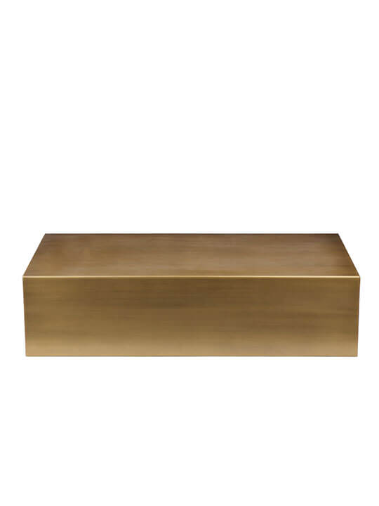 brass rectangle coffee table