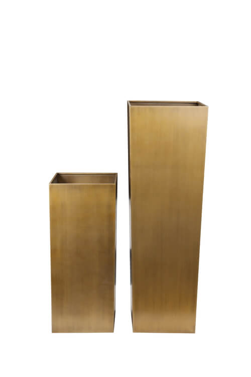 brass cube planter set