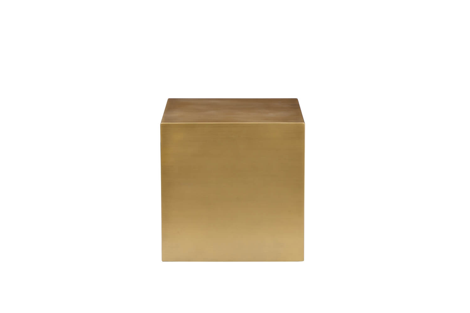 gold square side table